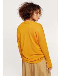 Violeta by Mango - Orange V-neck Sweater - Lyst
