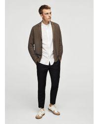 Mango | Brown Lapel Cotton Cardigan for Men | Lyst