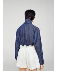 Mango - Blue Shorts - Lyst