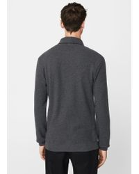 Mango - Gray Flecked Cotton-blend Sweater for Men - Lyst