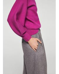 Mango - Multicolor Puffed Sleeves Sweater - Lyst