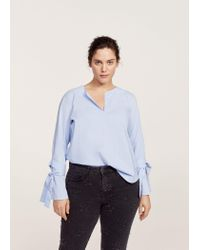 Violeta by Mango | Blue Stitched Stars Slim Jeans | Lyst