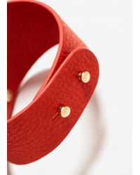 Mango | Orange Metal Appliqué Bracelet | Lyst
