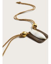 Violeta by Mango - Natural Shell Pendant Necklace - Lyst