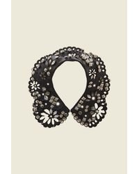Marc Jacobs   Black Daisy Leather Studded Collar   Lyst