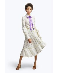 Marc Jacobs | White Rose Fil Coupe Ruffle Wrap Skirt | Lyst