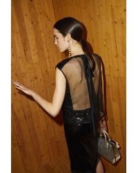 Marc Jacobs Black Sequin Shell Top