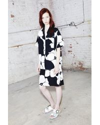 Marc Jacobs - Black Flower Print Skirt - Lyst