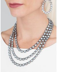 Larkspur & Hawk - Metallic Antoinette 3 Strand Quartz Necklace - Lyst
