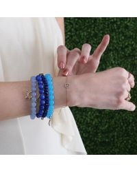 Sydney Evan - Blue Diamond Bone Beaded Bracelet - Lyst
