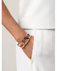 Rebecca - Metallic Elizabeth Circle Cuff Bracelet - Lyst