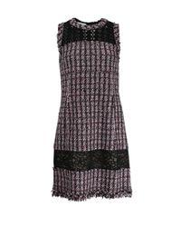 Oscar de la Renta | Multicolor Tweed Macrame Dress | Lyst