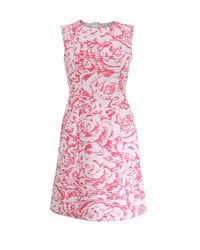 Oscar de la Renta - Pink Ribbon Bottom Dress - Lyst