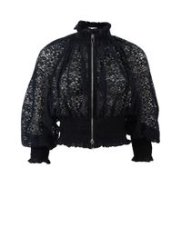 Stella McCartney | Black Naomi Lace Bomber | Lyst