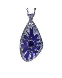 Arunashi - Blue Tanzanite Lightning Strikes Necklace - Lyst
