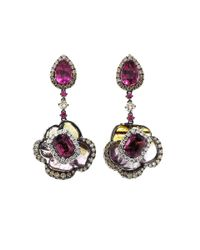 Wendy Yue | Multicolor Tourmaline And Rubellite Earrings | Lyst