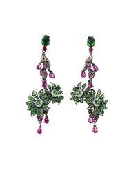 Wendy Yue | Green Tsavorite And Sapphire Earrings | Lyst