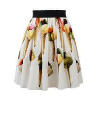 Dolce & Gabbana | White Gelato Skirt | Lyst