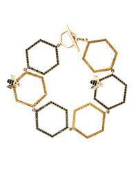 Alison Lou - Metallic Diamond Sapphire Gold Bracelet - Lyst