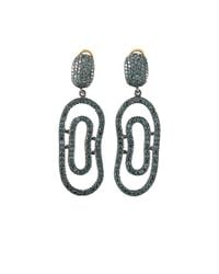 Yossi Harari - Blue-diamond Open Lilah Earrings - Lyst