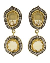 Sylva & Cie - Metallic Citrine Slice Earrings - Lyst