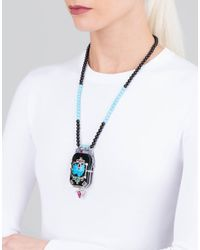 Wendy Yue - Blue Turquoise And Black Jade Necklace - Lyst