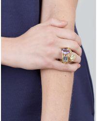 Boaz Kashi - Multicolor Aquamarine And Amethyst Ring - Lyst