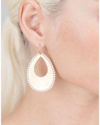 Irene Neuwirth - Metallic Akoya Pearl And Pear Shaped Gold Earrings - Lyst