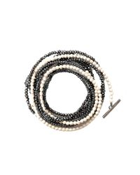Brunello Cucinelli - Metallic Riverstone And Glass Bead Necklace/bracelet - Lyst