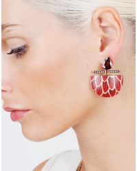 Silvia Furmanovich | Marquetry Red Demi Lune Earrings | Lyst