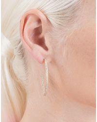 Dana Rebecca - Pink Cynthia Rose Diamond Pave Angled Hoops - Lyst