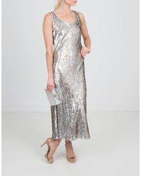 Michael Kors - Metallic Paisley Fill Coupe Tank Dress - Lyst