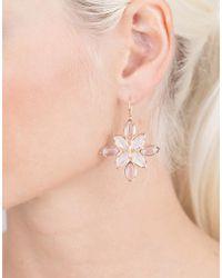 Irene Neuwirth - Metallic Rainbow Moonstone And Rose De France Earrings - Lyst