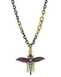 Sylva & Cie - Multicolor Fairy Bug Pendant - Lyst