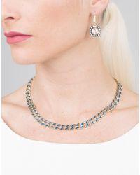 Sylva & Cie - Multicolor Blue Enamel Link Necklace - Lyst
