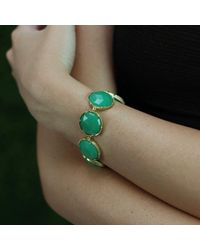 Irene Neuwirth - Blue Rose Cut Chrysoprase Bracelet - Lyst