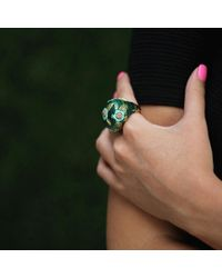 Wendy Yue - Green Malachite And Turquoise Ring - Lyst