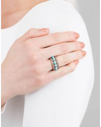 Sylva & Cie - Blue Round Turquoise Eternity Ring - Lyst