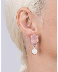 Dana Rebecca - Multicolor Courtney Lauren Quartz And Opal Earrings - Lyst