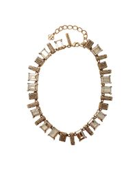 Oscar de la Renta - Metallic Colorway Shadow Necklace - Lyst