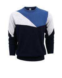 Eleventy - Blue Multi Colored Sweater for Men - Lyst