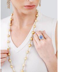 Sylva & Cie - Metallic Baroque Pearl Necklace - Lyst