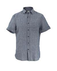 Brunello Cucinelli - Blue Leisure Striped Shirt for Men - Lyst