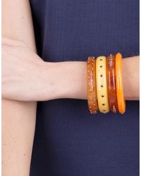Mark Davis - Brown Orange Bakelite Bangle - Lyst