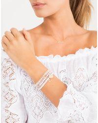 Sydney Evan - Metallic Diamond Pave Rainbow Charm Bracelet - Lyst