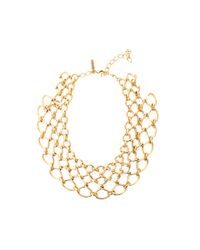 Oscar de la Renta | Metallic Twisted Rope Necklace | Lyst