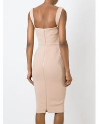 Victoria Beckham | Pink Curve Cami Fitted Dress | Lyst