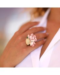 Arunashi - Pink Opal And Conch Petal Ring - Lyst