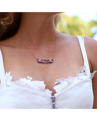 Dana Rebecca | Purple Lindsay Allison Amethyst Necklace | Lyst