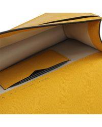 Valextra - Yellow Small Twist Bag - Lyst